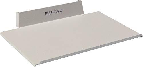 BeSuCa Einfach aufgeräumt EA2.0 S Festplattenhalterung für Externe Datensicherung, Fix, für 24 und 27 Zoll iMAC mit 5K Retina Display & Thunderbolt 3, Weißaluminium (18,1 x 12,2 x 2,6 cm)