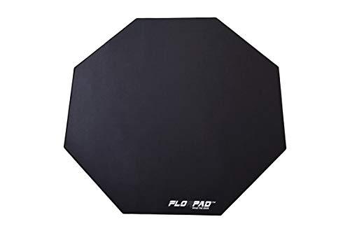 Florpad Gamer-/Esport-Bodenschutzmatte - weich - 100x100cm - Core (Black Line)