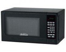Sunbeam SGC7702 0.7 Cu. Ft. 700 Watts Compact Digital Microwave Oven, Black