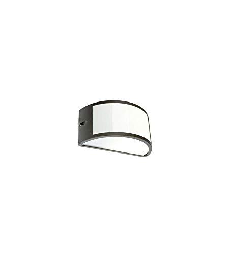 Applique mezzaluna moderna lampada da parete per esterno grigio