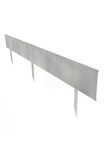 Multi-Edge Bordura Advance, Acero Galvanizado, 200 x 20 cm. Borde de Acero galvanizado para Crear límites en el jardín. A Partir de 4 Unidades. (5 Unidades)