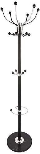 Haku Möbel 88591 Attaccapanni acciaio marmo cromato nero 176 cm