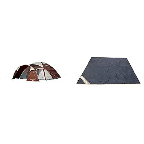 キャプテンスタッグ(CAPTAIN STAG) テント エクスギア ツールームドーム 270 UA-18 ドーム型 4~5人用 PU加工 ベンチレーション機能 キャリーバッグ付き & テント フロア マット 床 シート 保温M-3305【セット買い】
