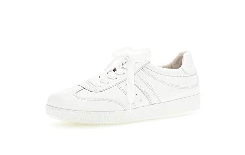 Gabor Zapatillas bajas para mujer, plantilla suelta, mejor ajuste, con cordones, zapatos de calle, para el tiempo libre, color blanco, 38,5 EU