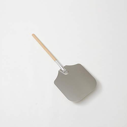 """American Metalcraft 3714 37"""" Aluminum Pizza Peel with 21″ Wood Handle, 14″ x 16″ Large Blade"""
