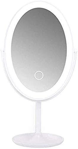 Espejo de tocador de maquillaje con luces LED Smart LED espejo de vanidad con lámpara de escritorio plegable belleza vestir portátil carga USB