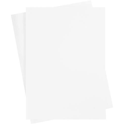Cartulina, A2 420x600 mm, 180 mm, blanco nieve, 10 hojas