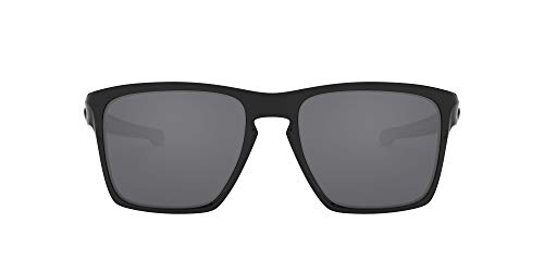 Oakley Men's OO9341 Sliver XL Rectangular Sunglasses, Polished Black/Black Iridium, 57 mm