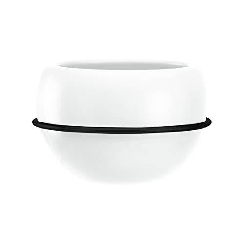 Amazon Basics Pflanztopf für die Wandaufhängung, rund, Weiß / Schwarz