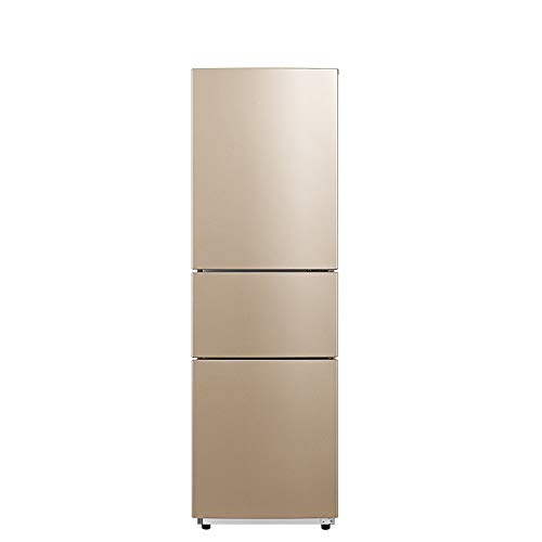 STAR BABY Kaltlagerung Gefrierschrank - freistehend, Gesamtvolumen 215 L, 117 L Kühlschrank, 55 L Gefrierfach, 43 dB, Innenbeleuchtung, Zubehör, Gold [Energie Grade A +]