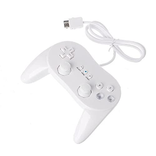 QTJUST Controlador de Juegos clásico con Cable Gaming Remote Pro Gamepad Control para Sistemas de Juegos portátiles Wii
