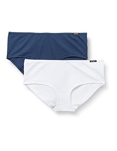 Skiny Damen Panty 2er Pack Every Day In Cotton Advantage Flash Hipster-Höschen, insigniablue Selection, 40