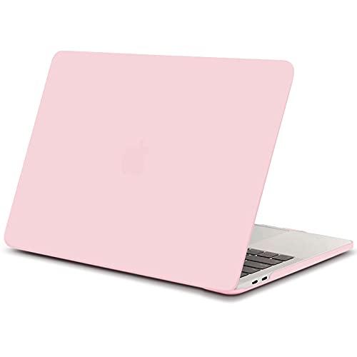 TECOOL Custodia MacBook PRO 13 2016/2017/ 2018/2019, Sottile Plastica Cover Rigida per Apple MacBook PRO 13.3 Pollici con/Senza Touch Bar (Modello:A1706/ A1708/ A1989/ A2159) - Quarzo Rosa
