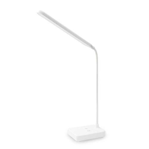 WWWL Lámpara Escritorio Lámpara de Oficina USB Recargable LED Plegable lámpara de Escritorio protección de Ojos táctil Regulable lámpara de Mesa de Lectura Led luz 3 Nivel Color Withoutbattery