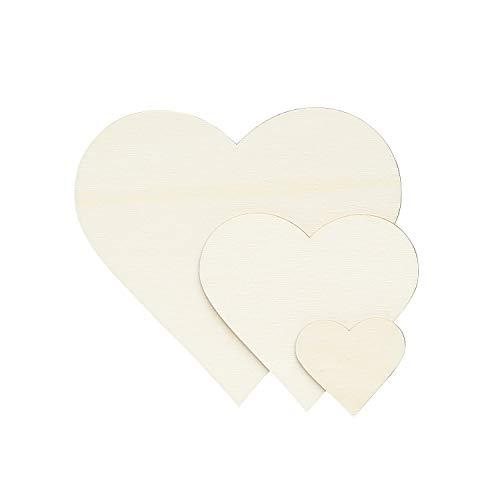 Sperrholz Zuschnitte - Herzen - Größenauswahl - Pappel 3mm, Größe:Herz 8cmx8cm