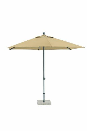 Kettler 0306030-0800 Push-Up Schirm, natur, 300x300 cm rund, Gestell Aluminium, Bespannung Polyester, 5.15 kg
