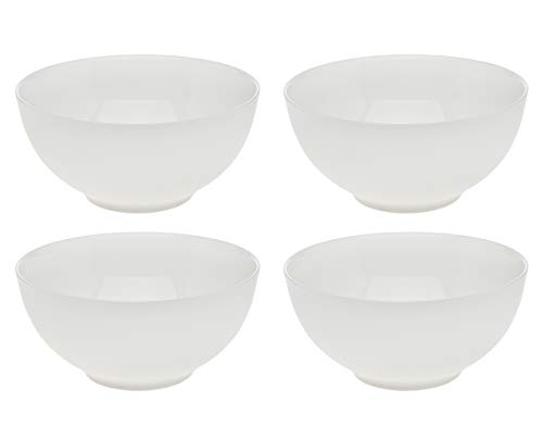 Basic White Soup Cereal Bowl Set, Bone China - 4.5 inches, Set of 4