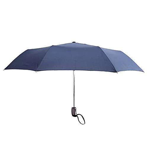 ZENGZHIJIE Paraguas Paraguas Paraguas automático Paraguas Paraguas Color sólido Plegable Doble Reforzado Paraguas de Pesca a Prueba de Viento para Hombres y Mujeres