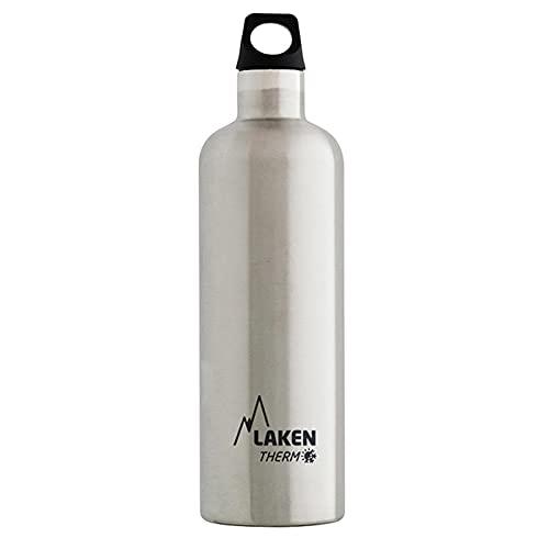 Laken Futura Thermo Borraccia, Bottiglia d'Acqua Isolamento Sottovuoto Acciaio Inossidabile, Bocca Stretta - 750 ML Argento