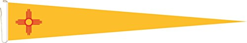 U24 Langwimpel New Mexico Fahne Flagge Wimpel 250 x 40 cm Premiumqualität