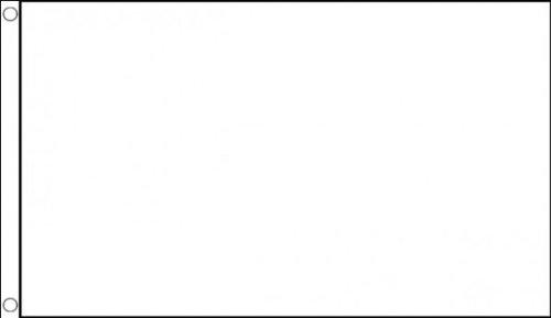 AZ FLAG Flagge WEISSER Schiedsrichter 90x60cm - Motorsport RENNLEITUNG WEIß Fahne 60 x 90 cm - flaggen Top Qualität