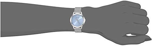 GUESS Women's Quartz Stainless-Steel Strap, Silver, Casual Watch (Model: U1197L2)