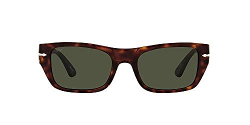 Persol Gafas de Sol PO 3268S Havana/Green 53/20/145 unisex