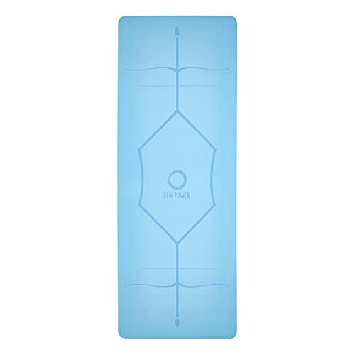 Zen Power Esterilla de Yoga Mandala de Caucho Natural – Pilates y Yoga Mat Antideslizante – Esterilla de Deporte Profesional con Sistema de Alineación para Yoga – Delgada y Suave – 185 x 60 x 0.4 cm