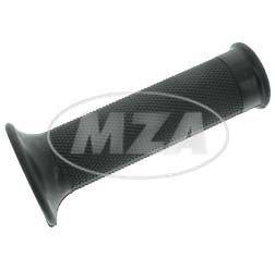 Gummigriff m. Rändelprofil f. Festgriff, schwarz - ohne Loch zur Blinkerbefestigung - innen Ø 20 mm, Länge: 120 mm