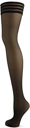 Pour Moi? Women s Strapped - 15 Denier Hold up Stockings, Black (Black Black), Medium Manufacturer Size S M UK