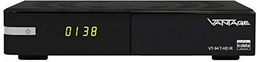 Vantage VT-94 T2 DVB-C & DVB-T Kombo-Receiver Aufnahmefunktion, Deutscher DVB-T2 Standard (H.265), f