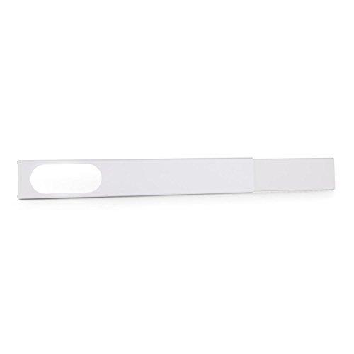 Klarstein Fensterabdichtung - für Klimaanlage, Dichtungsset für Schiebefenster, PVC-Klemmschiene, flexible Größe, 67-131 cm, für 19 x 7,5 cm Abluft-Schlauch Größe, weiß