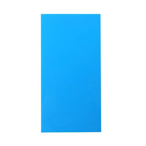 Gwxevce 10X20cm Plexiglasplatte Farbige Acrylplatte DIY Spielzeugzubehör Modellherstellung Plexiglasplatte Blau