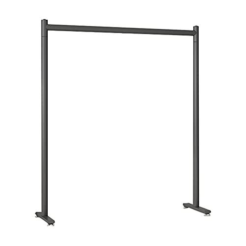 HJYPZJ Perchero Burro,perchero simple de un solo poste,adecuado para dormitorios,balcones y tiendas de ropa/Black / 80x40x130cm
