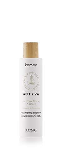 Kemon Actyva Nuova Fibra Cream - Haar-Creme für geschmeidiges Haar, pflegende Haar-Paste für restrukturierende Behandlung ohne Ausspülen - 150 ml