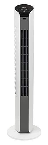 [山善]扇風機スリムファンマイコンスイッチ風量3段階調節タイマー機能リモコン付ホワイトグレーYSR-T802(WH)[メーカー保証1年]