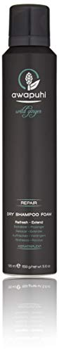 Paul Mitchell Awapuhi Wild Ginger Dry Shampoo Foam, Trocken-Shampoo ideal für trockenes, strapaziertes Haar, Profi Dry Clean Shampoo in Salon Qualität, 195 ml