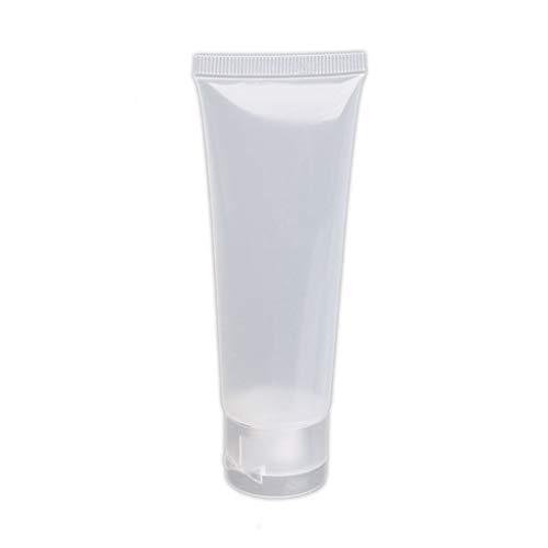 Yihaifu 5pcs Tubo de compresión de plástico Transparente Recargable cosmético Crema loción Viaje Botella de envase vacío