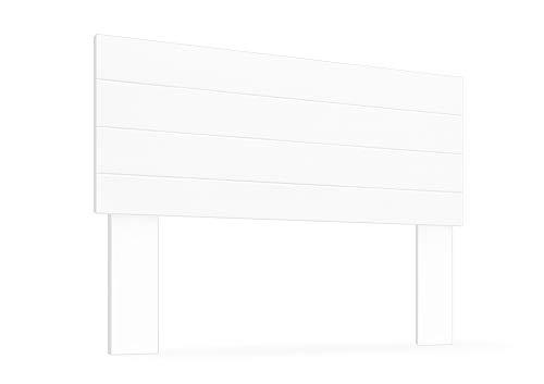 LA WEB DEL COLCHON - Cabecero de Madera Rústico Vintage para Cama de 105 (115 x 90 cms.) Blanco nórdico | Cabeceros Madera | Dormitorio Matrimonio | Cabezal Cama |Estilo nórdico