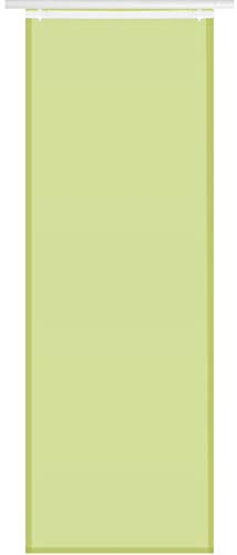 Bestlivings Flächenvorhang Elena (B x H) 60 x 260 cm Grün, transparenter einfarbiger Schiebevorhang, in vielen Farben