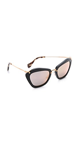 miu miu 0Mu10Ns 1Ab1A1 55 Occhiali da Sole, Nero (Black/Gray), Donna