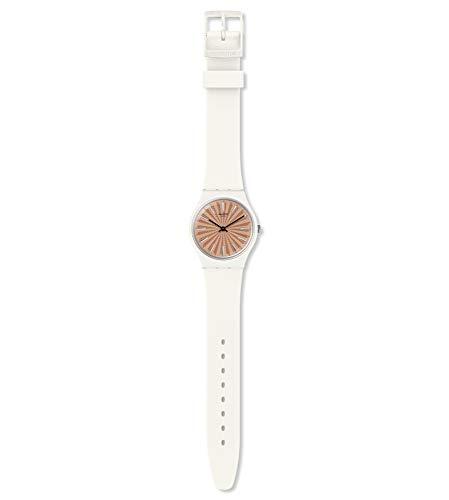 Swatch Reloj Analógico para Mujer de Cuarzo Suizo con Correa en Silicona GW209