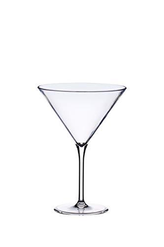Kitchencraft Barcraft–Cubitera de plástico cóctel de martini de cristal, 250ml (9FL OZ), transparente
