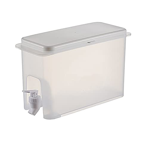 Dspensador de agua fría para Nevera,Garrafa con Capacidad 3,5 litros. Botella de plástico PP Reutilizable con Grifo, Fuente para para bebida caliente o fría, Bebidas, cócteles (3,5Litros)