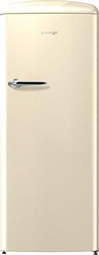 Gorenje ORB 153 C Kühlschrank mit Gefrierfach / A+++ / Höhe 154 cm / Kühlen: 229 L / Gefrieren: 25 L / Beige/ DynamicCooling-System / LED Beleuchtung / Oldtimer / Retro Collection