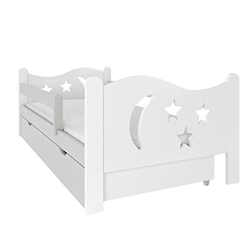 NeedSleep - Lettino con protezione anticaduta per bambini, 80 x 140 cm, 80 x 160 cm, 80 x 180 cm, per bambini a partire dai 2 anni   Ragazza I Montessori cameretta dei bambini (80 x 160 cm, grigio)