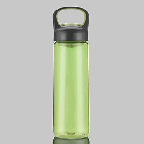 SYDM Botella de Agua de Gran Capacidad Portátil de plástico a Prueba de Fugas BPA -El Botella de Agua cierta para asegurarte de Beber Agua Saludable, 24 oz (Color : Green)