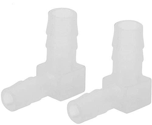20Pcs Junta de Acuario 90° Codo Bomba de Aire Adaptador de Tubería Tanque de Peces Conexiones de Plásticos de Polipropileno Manguera Conector Adecuado Apto para la Mayoría de la Bomba de Aire