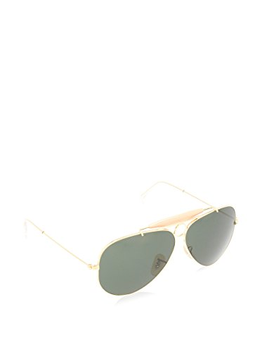 Ray-Ban Aviator, Occhiali da Sole Unisex Adulto, Oro (001 Gold/Green Classic), 58 mm