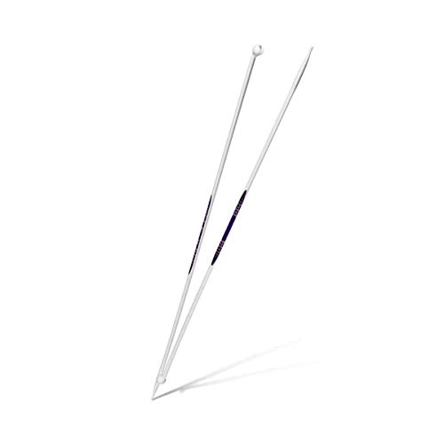 Prym Single-Point Ergonomic Knitting Pins/Needles (Pair) 4mm x 40cm Length, Metal, Multi-Colour, 43 x 4 x 1 cm